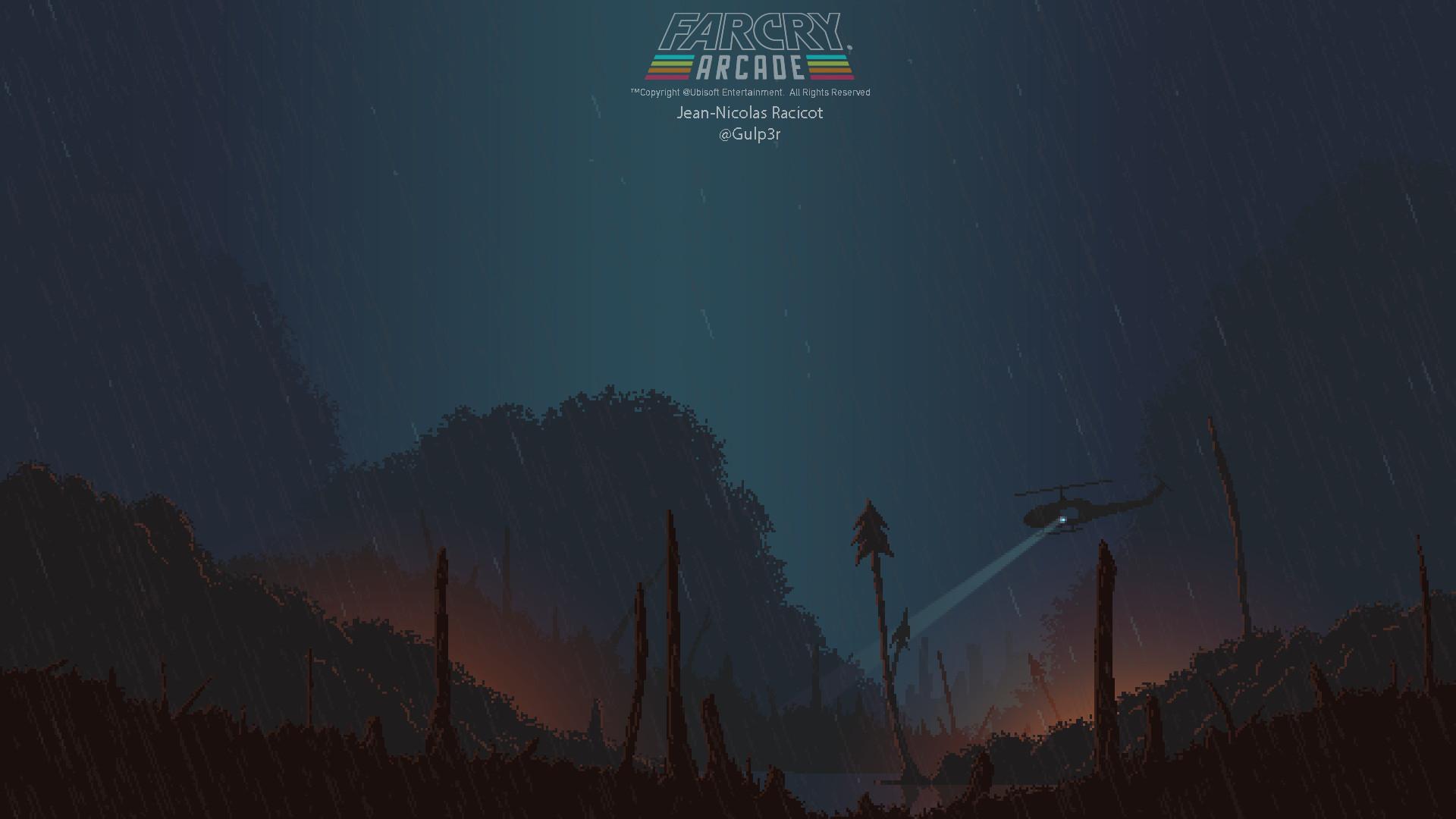 Artstation Farcry Arcade Pixelart Background Vietnam Jean Nicolas Racicot