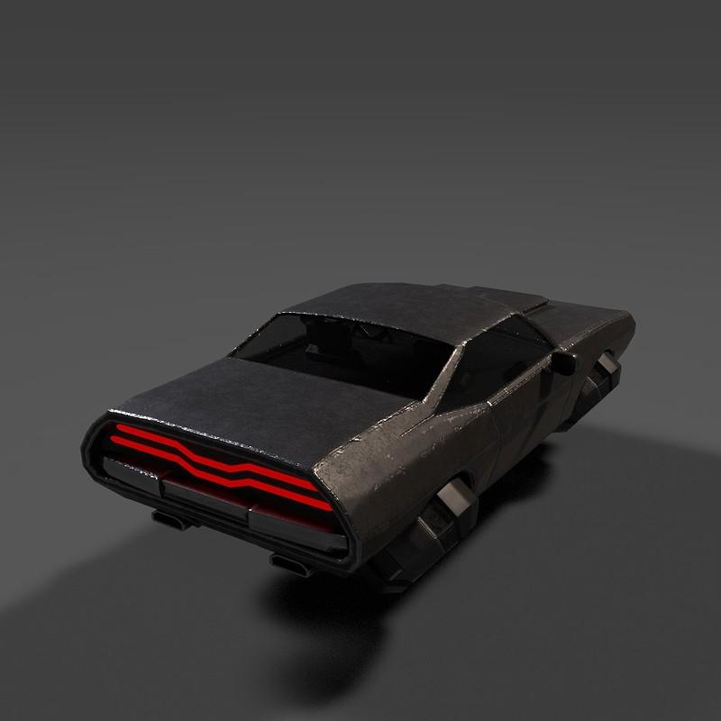 cyberpunk muscle car