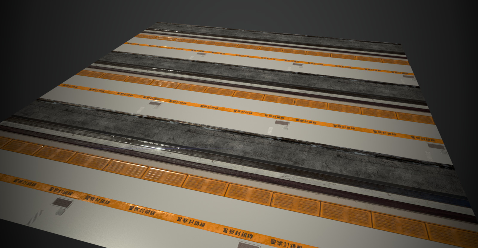 Trim sheet material I made for the scene