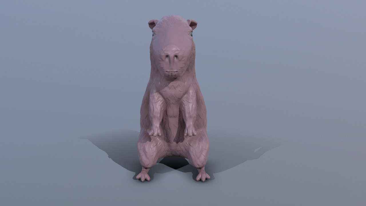 Zbrush model of a Capybara
