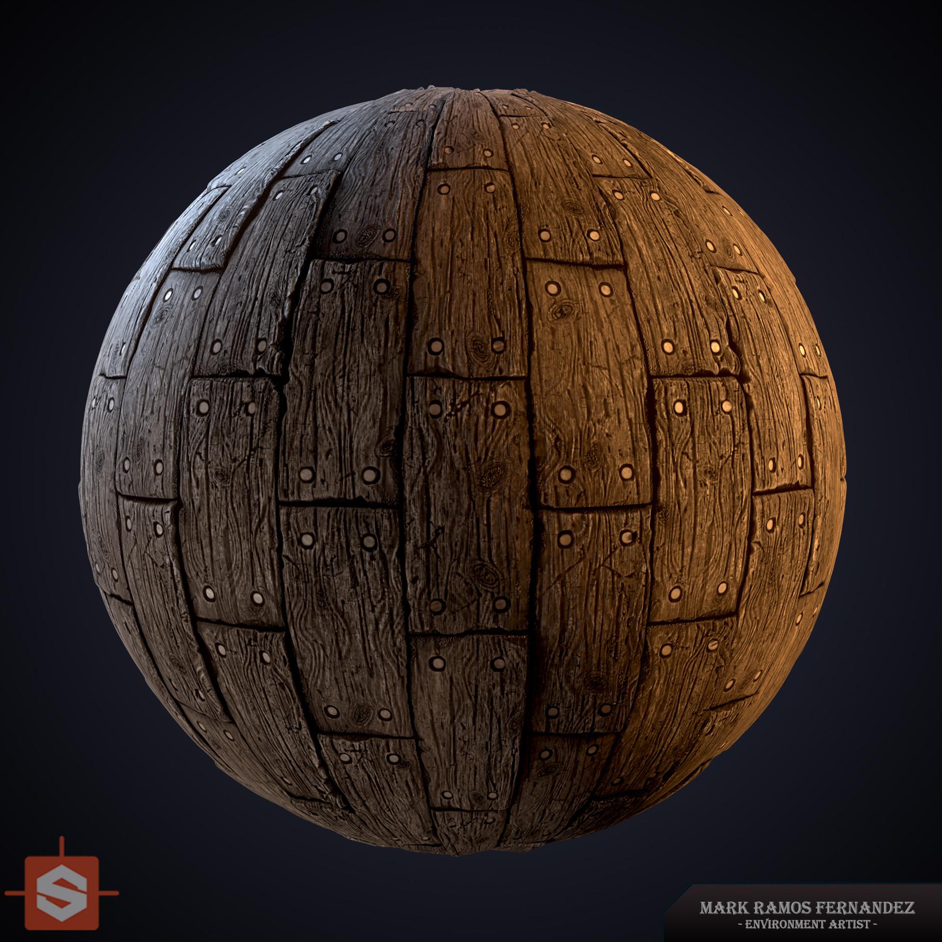 ArtStation - Substance Designer - Wooden Planks Aged, Mark Ramos