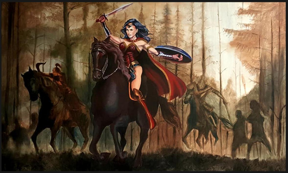 Alexander Tran Wonder Woman On Horse