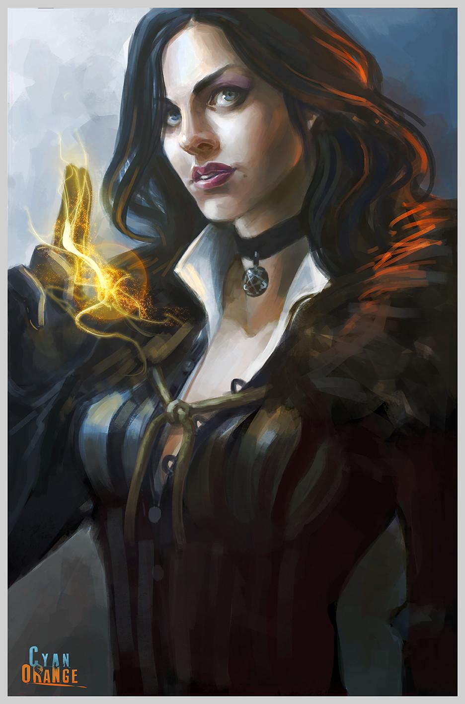 Artstation Yennefer The Witcher 3 Fanart Cyan Orange