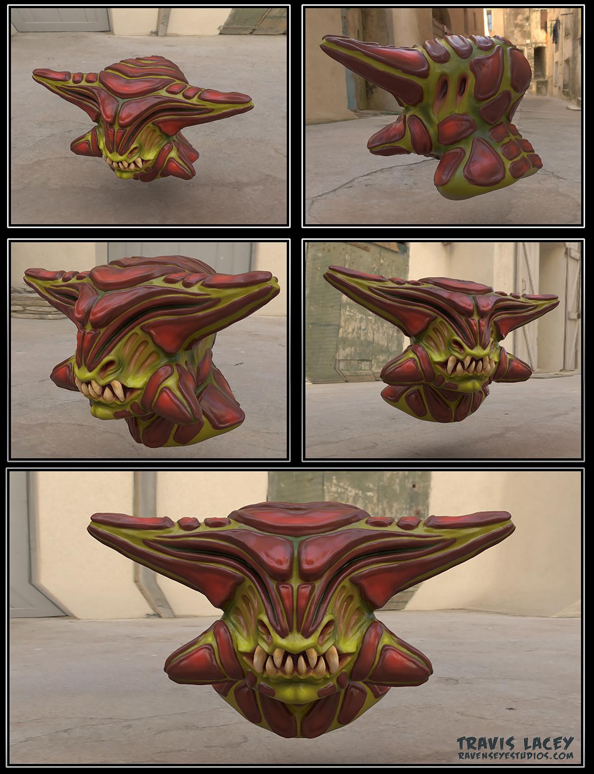 Zbrush alien head