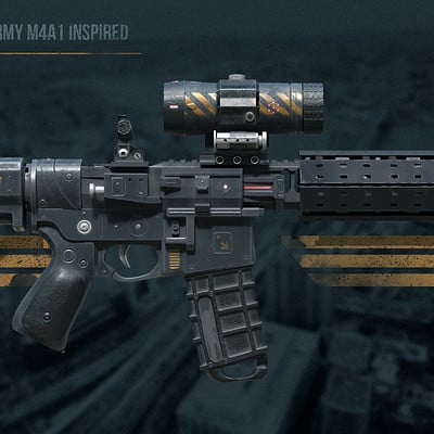 Assault rifle - US Army M4A1 inspired
