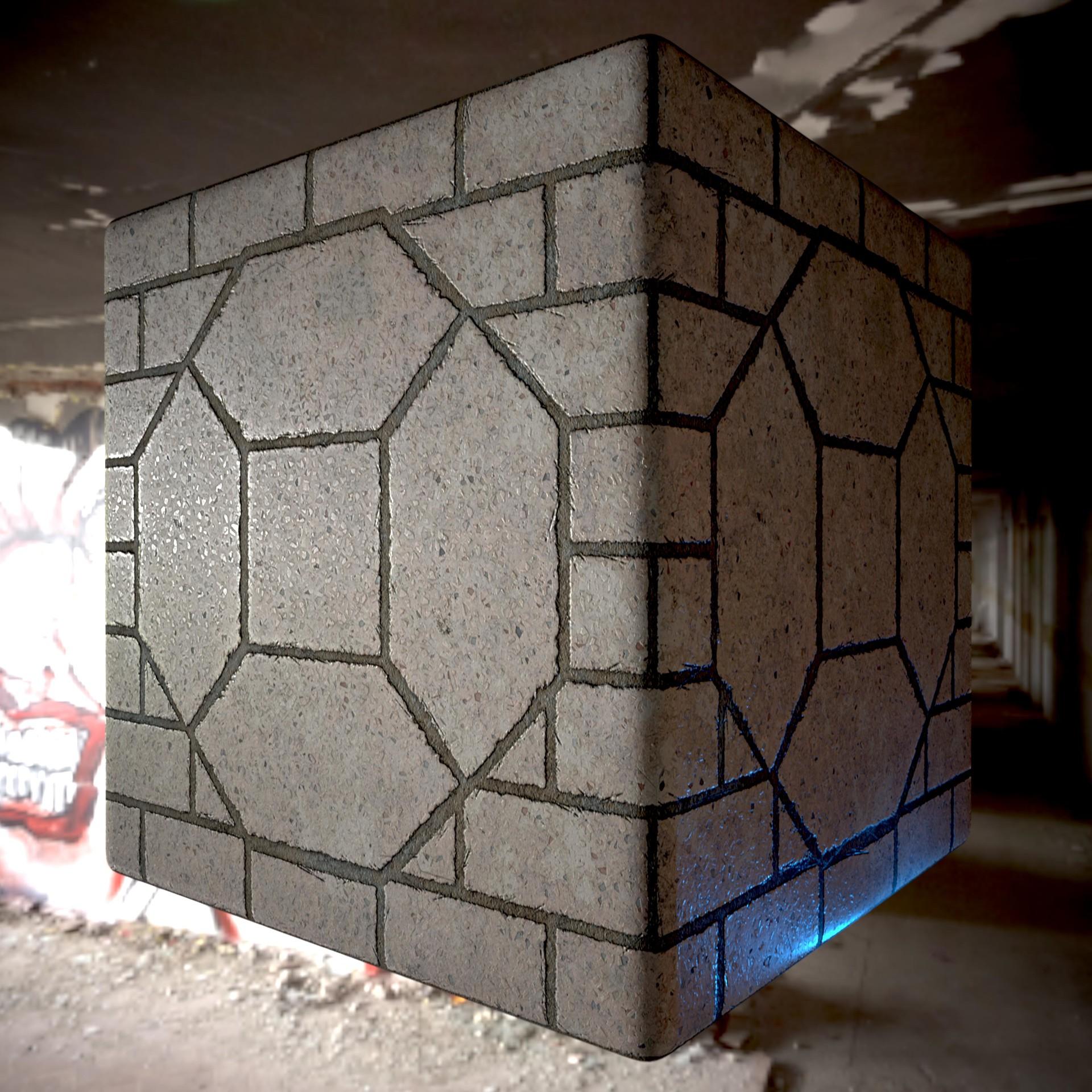 Artstation Terrazzo Floor Tiles Vishal Mahadevan