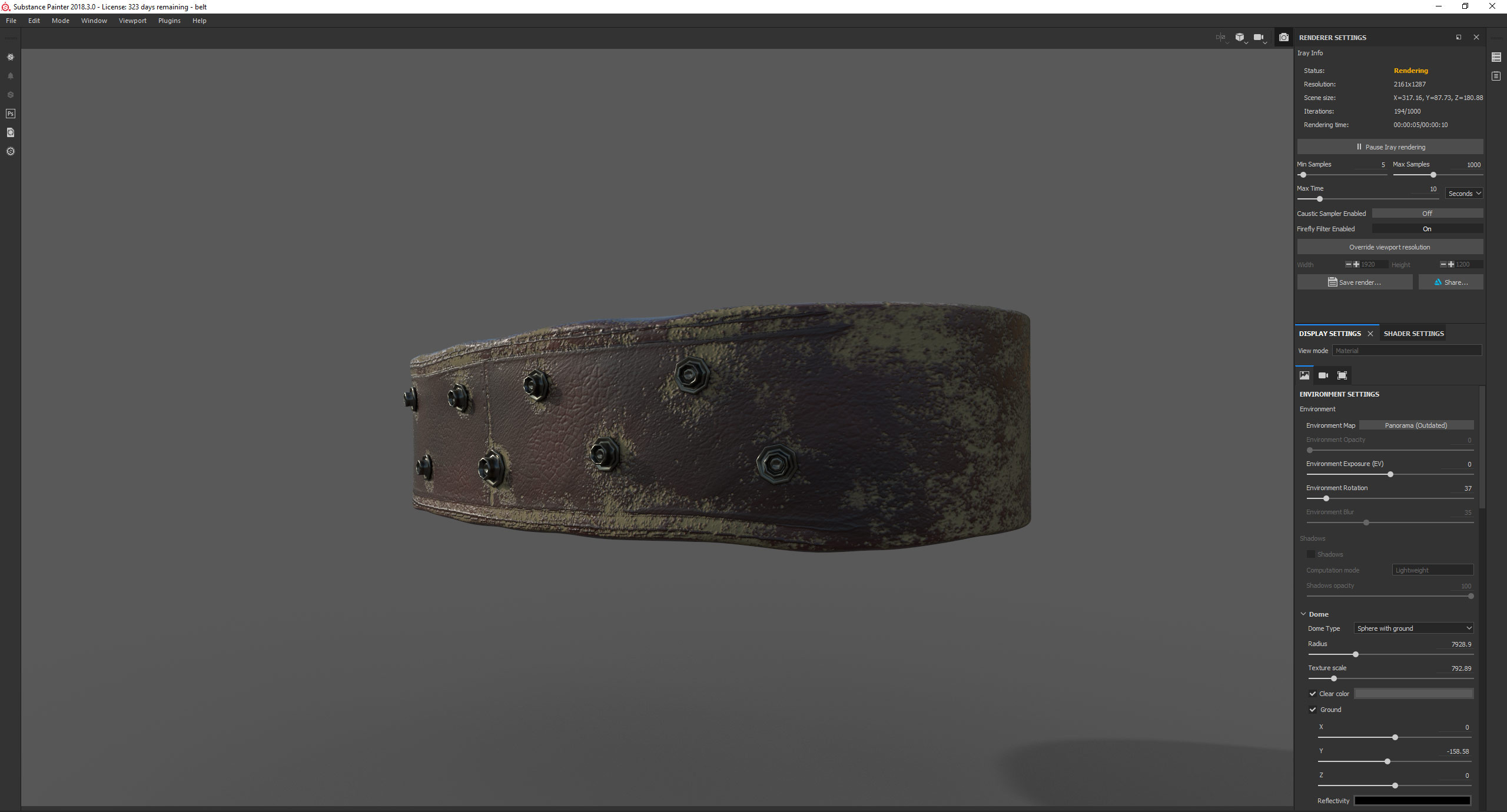 Substance Painter texturing