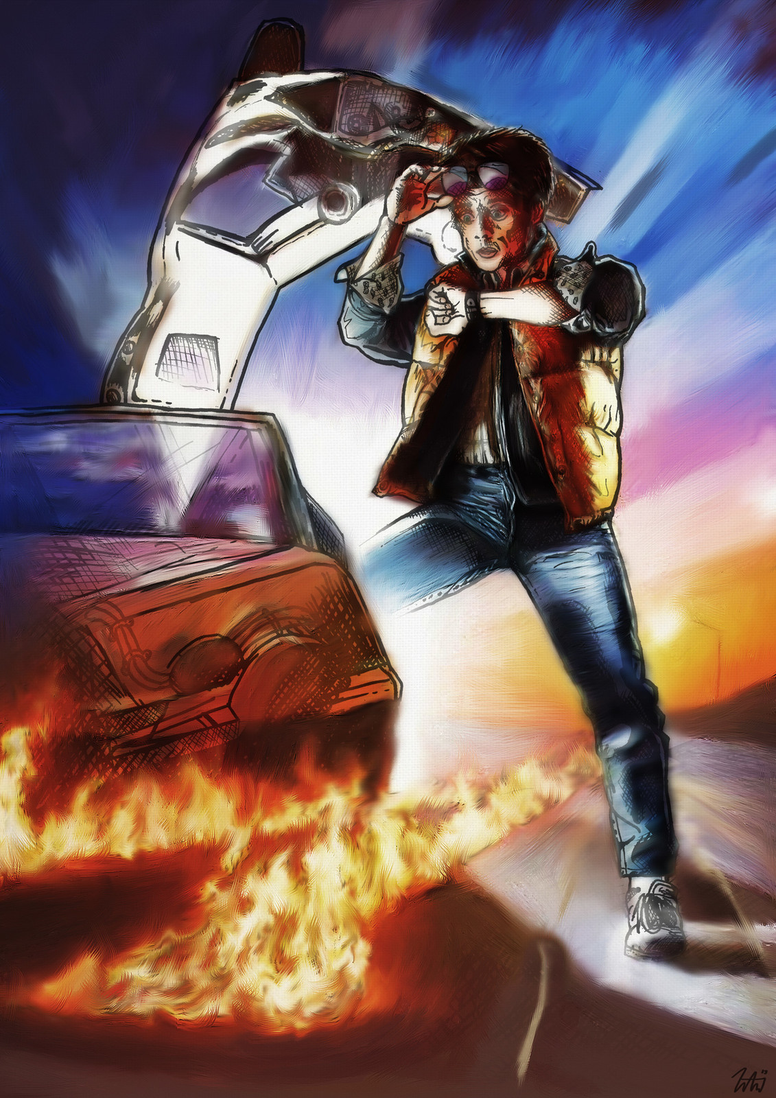 Back to the Future Digital Painting