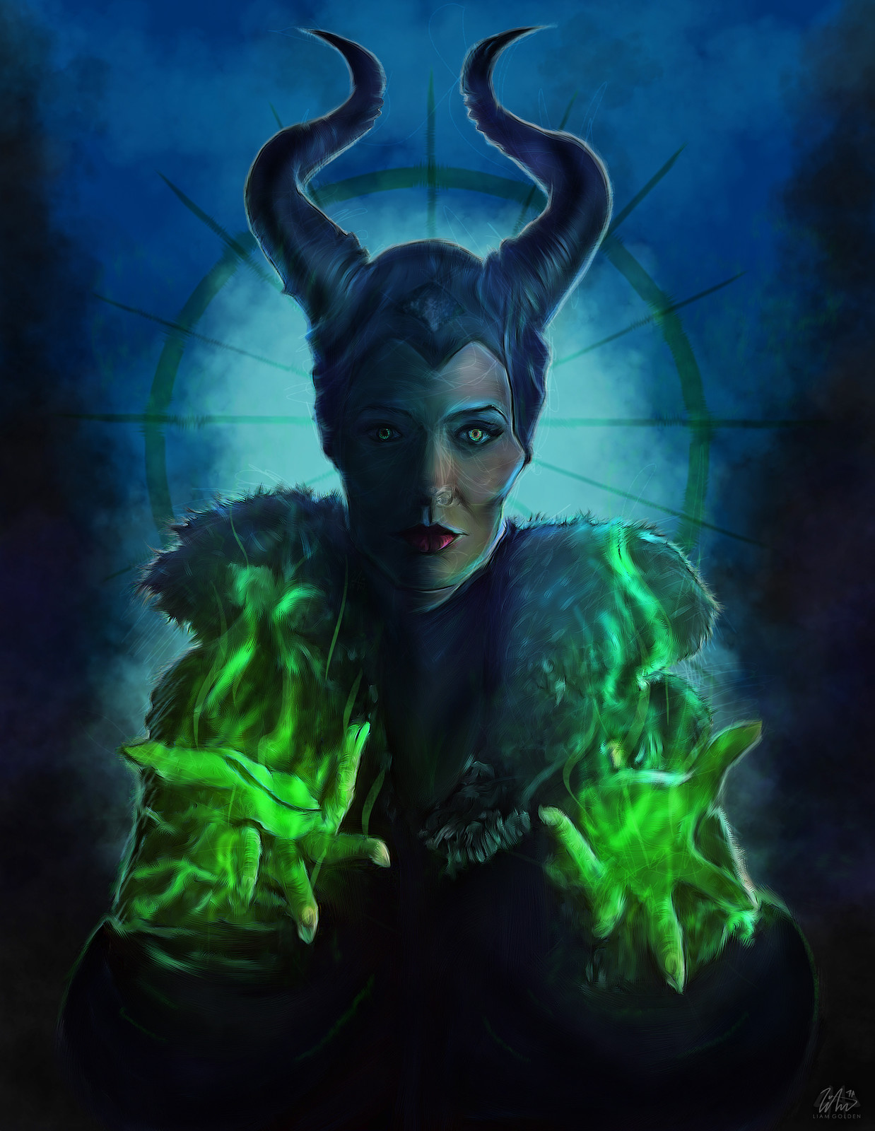 Maleficent 2014 (Angelina) Illustration