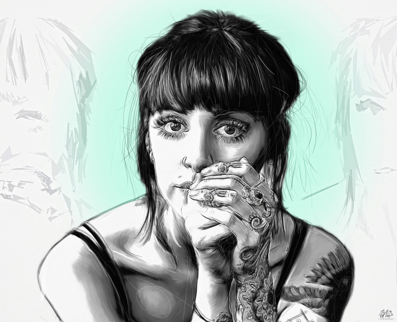 Hannah Snowdon - Gaze - Illustration