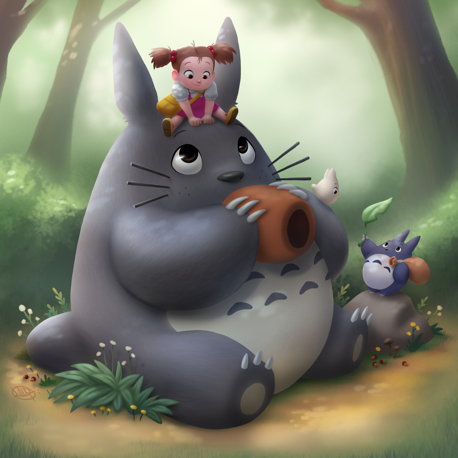 Luigi lucarelli relaxing with totoro