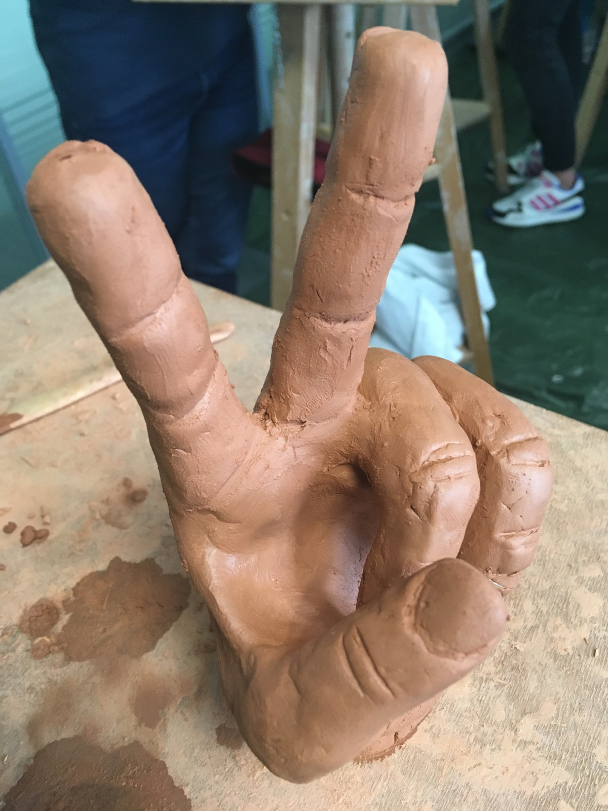 Hand done with Clay (Step 4)