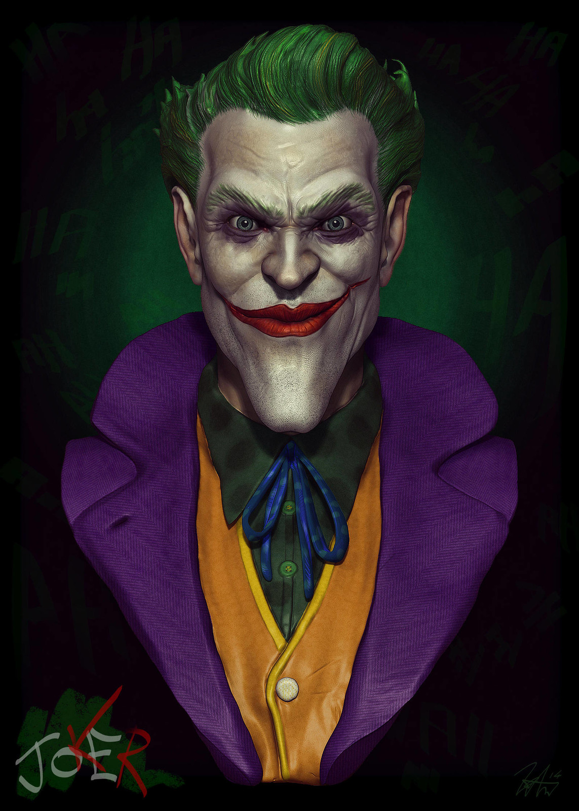joKeR - Bust Sculpture