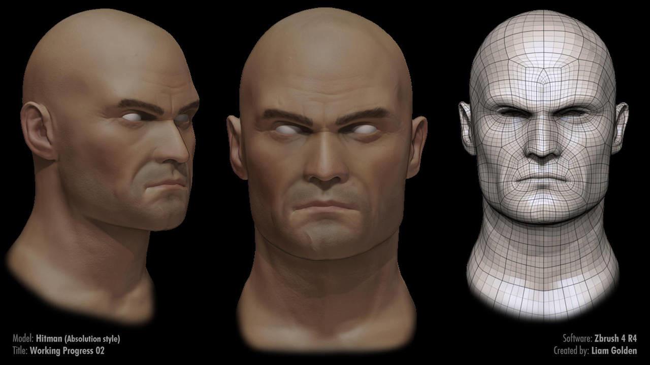 Liam golden hitman sculpt work in progress 02 by liamgolden d5yoj3z fullview