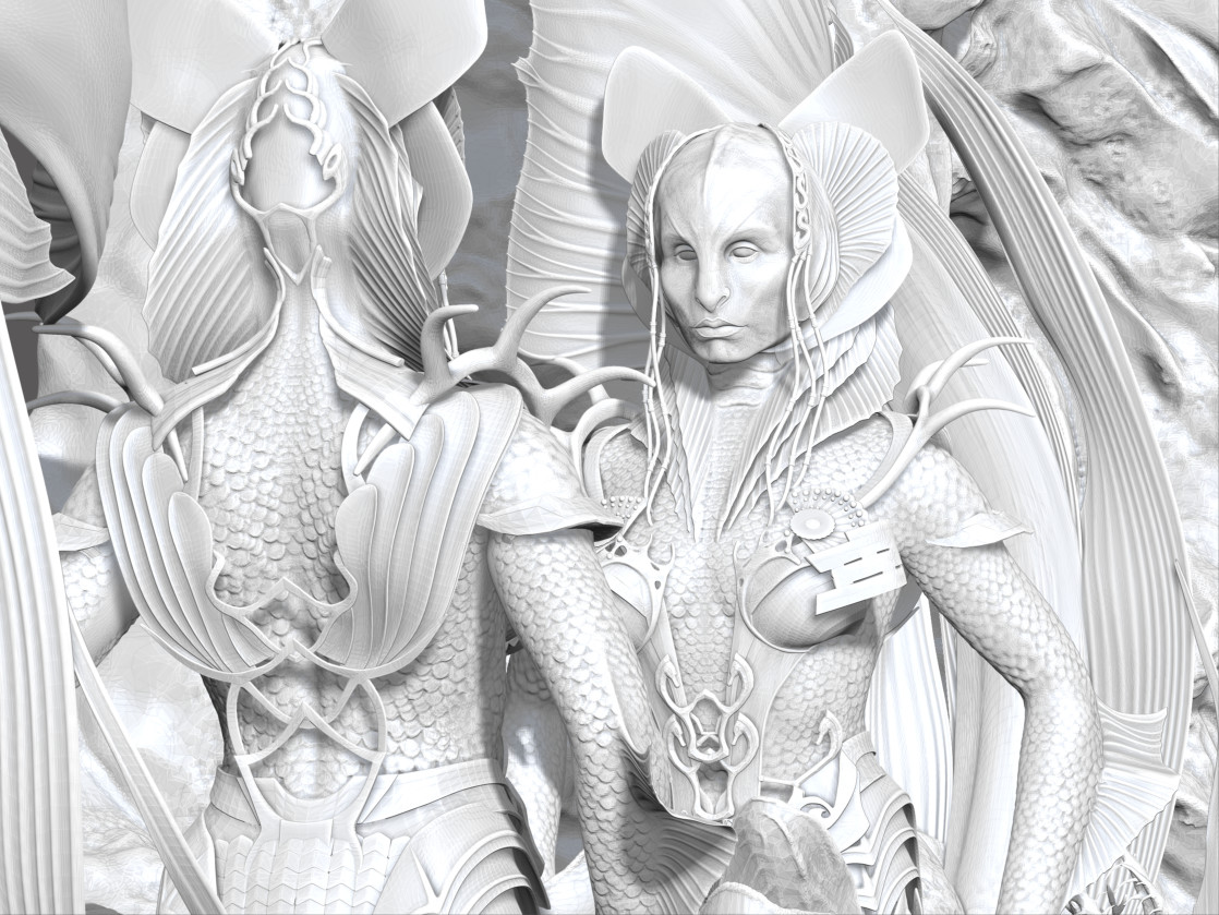 Mermaid gate ZBrush sculpt screengrab