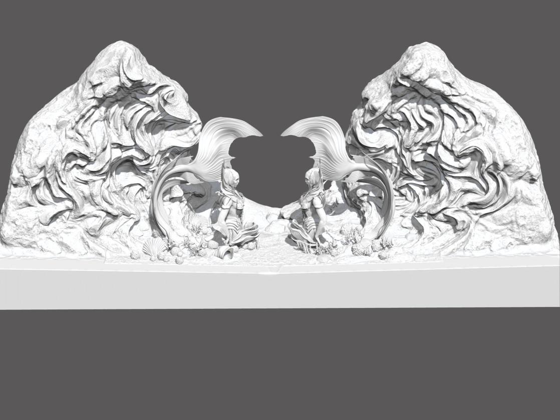 Mermaid gate ZBrush sculpt screengrab