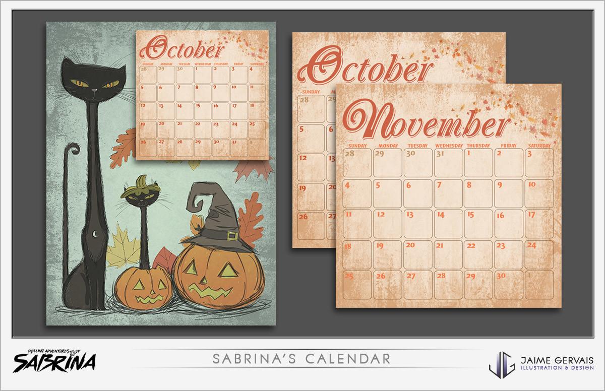 Jaime gervais sabrinas calendar