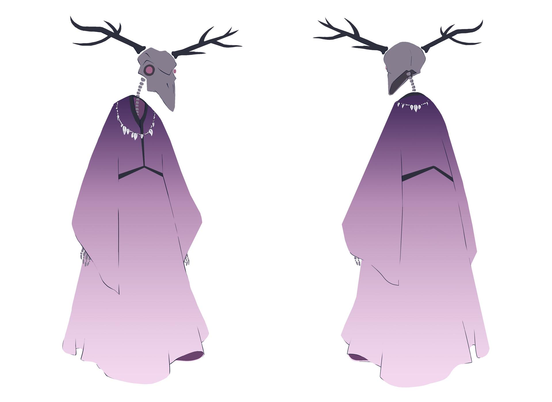 Etisha - Character turnaround (process)