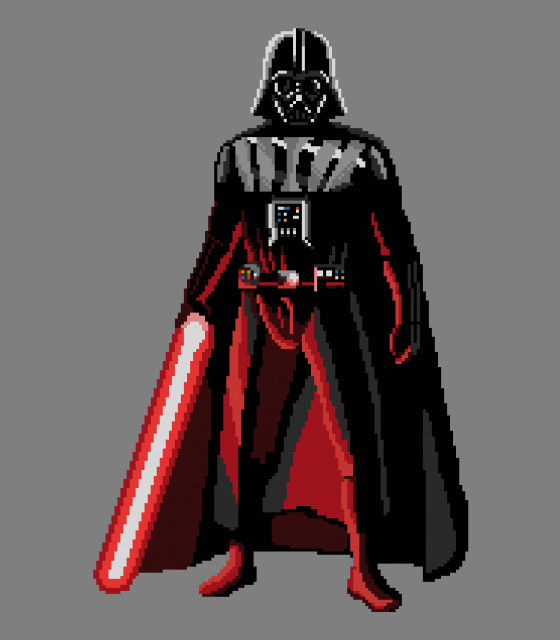 Dalbo Pixel Art Darth Vader In Pixel Art