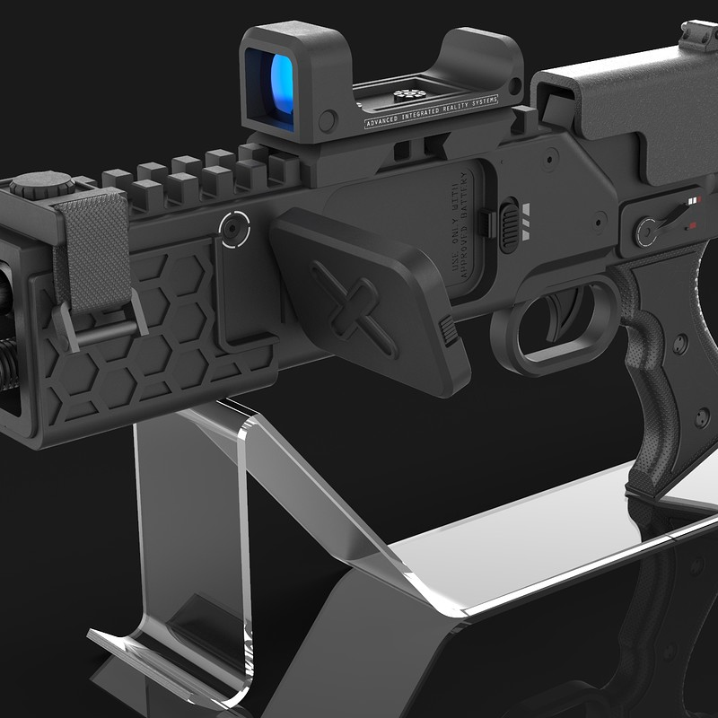 Near future rifle with drone targeting- Concept