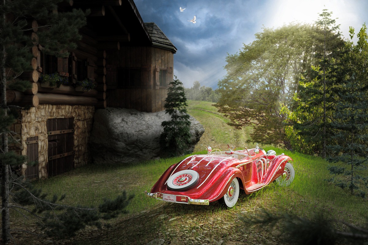 Anton golubov mercedes benz 540k special roadster by aghandwork