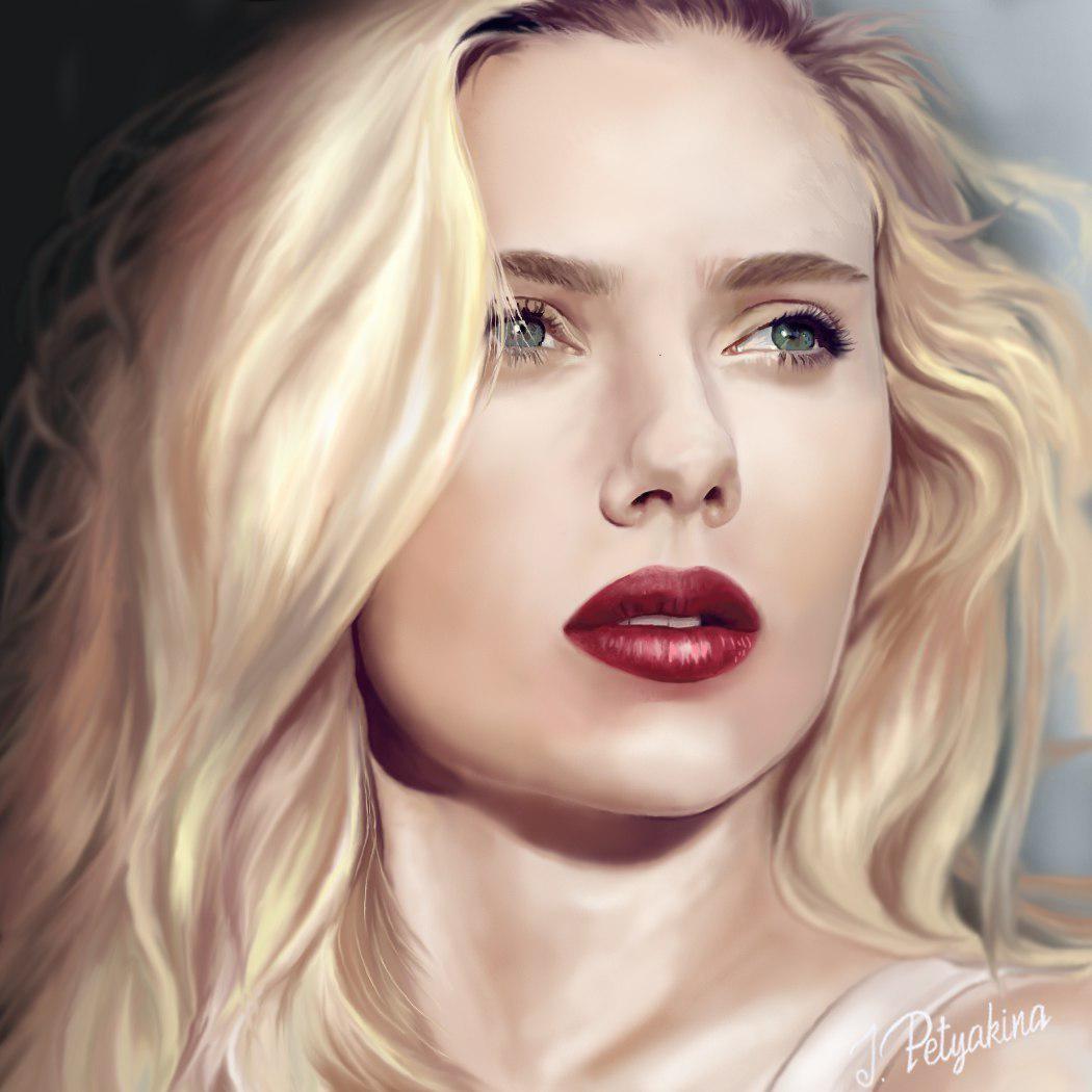 Artstation Scarlett Johansson Portrait Inna Petyakina
