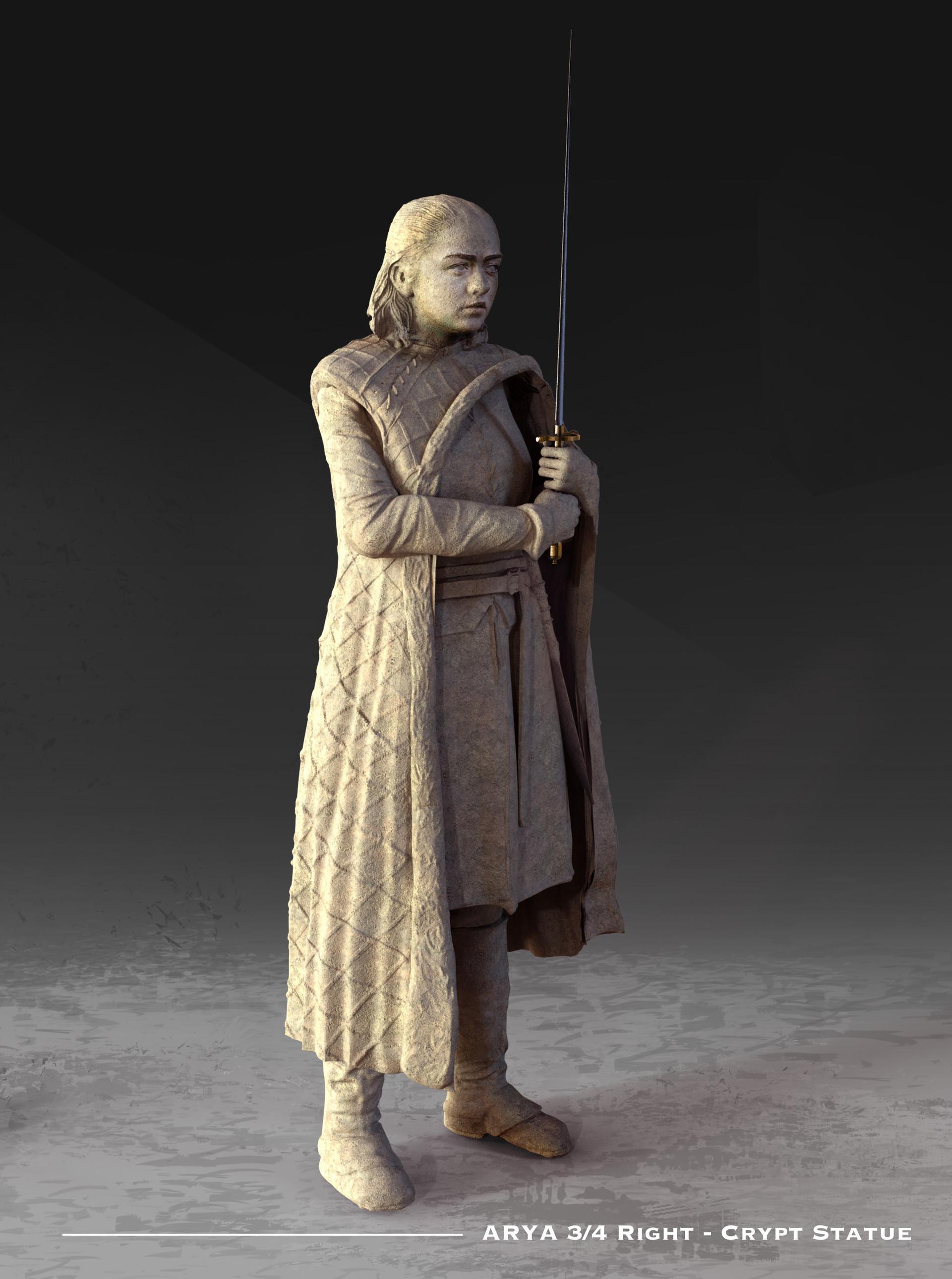 Kieran belshaw arya statue 3quarterright v002