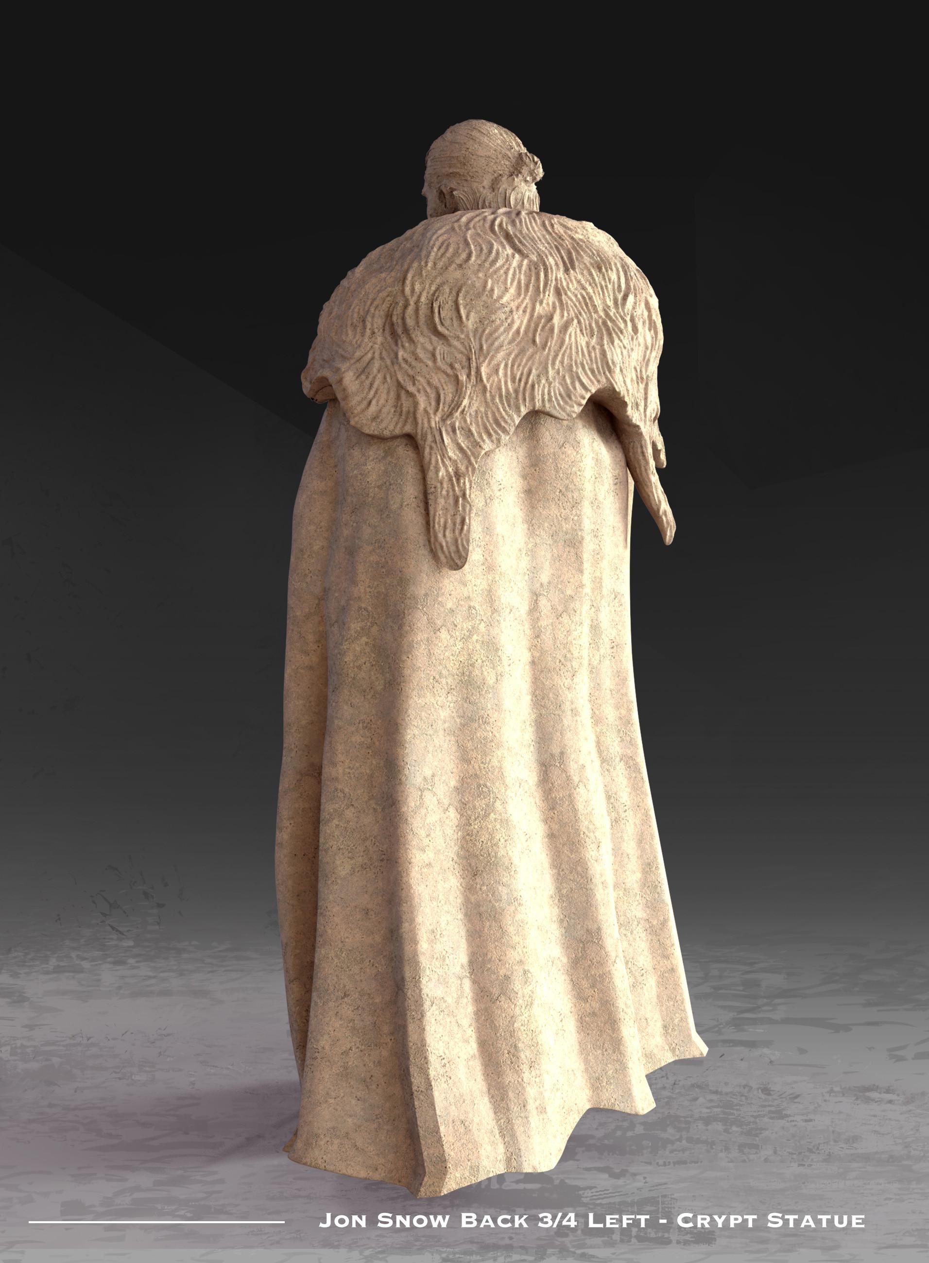 Kieran belshaw jon statue back 3qleft v001