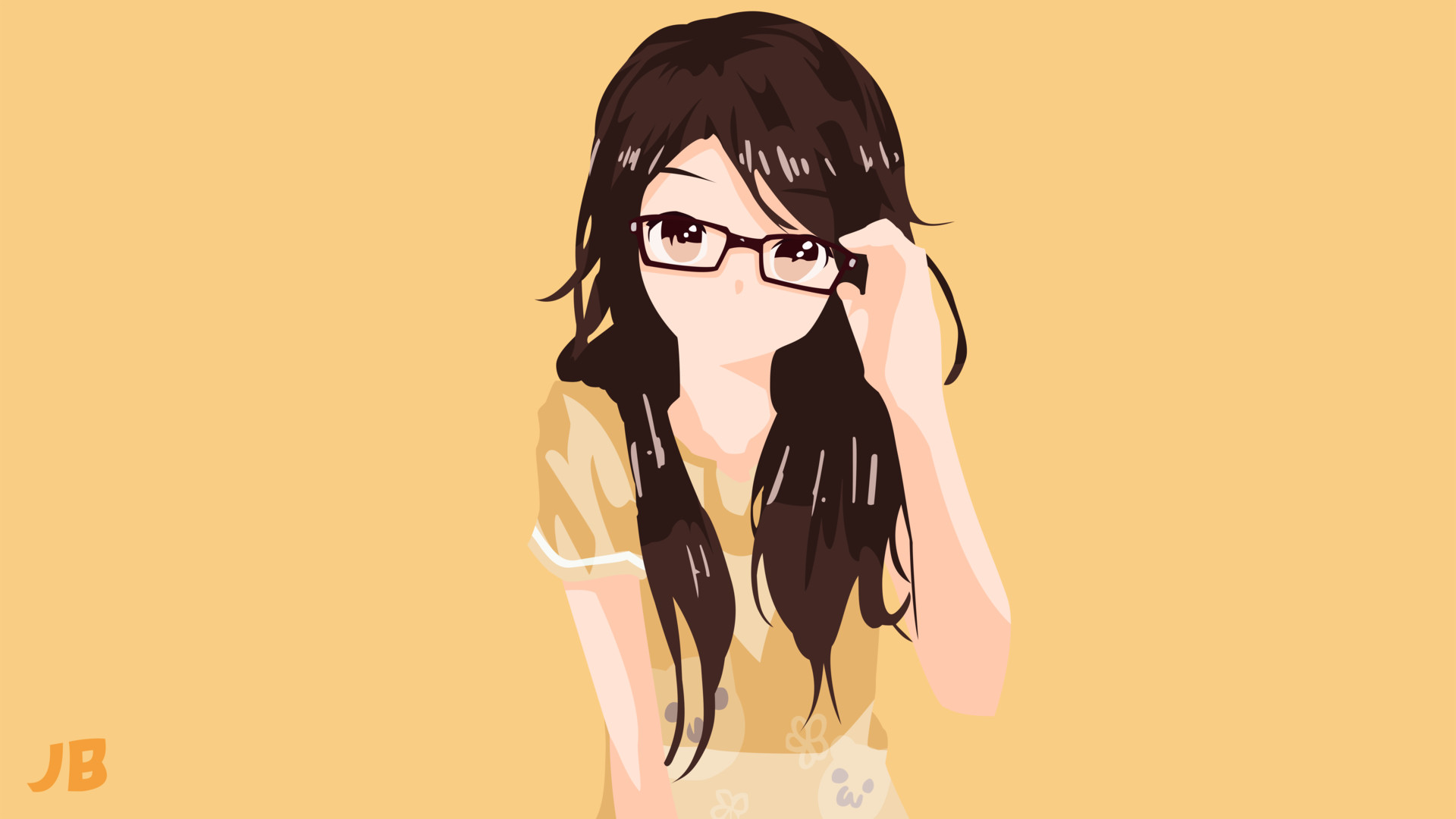 Cute girl with glasses