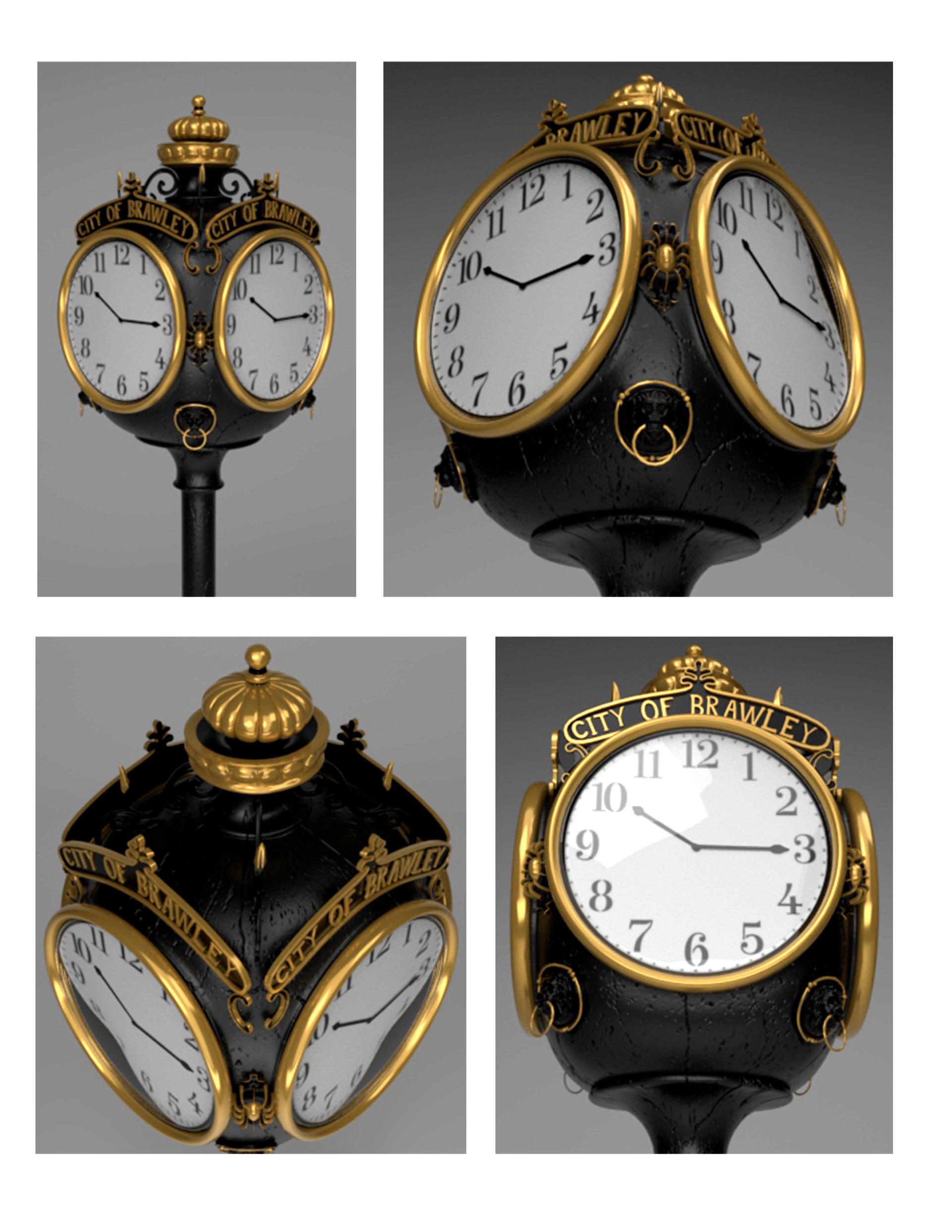 ArtStation - Street Clock, Megan McDonough