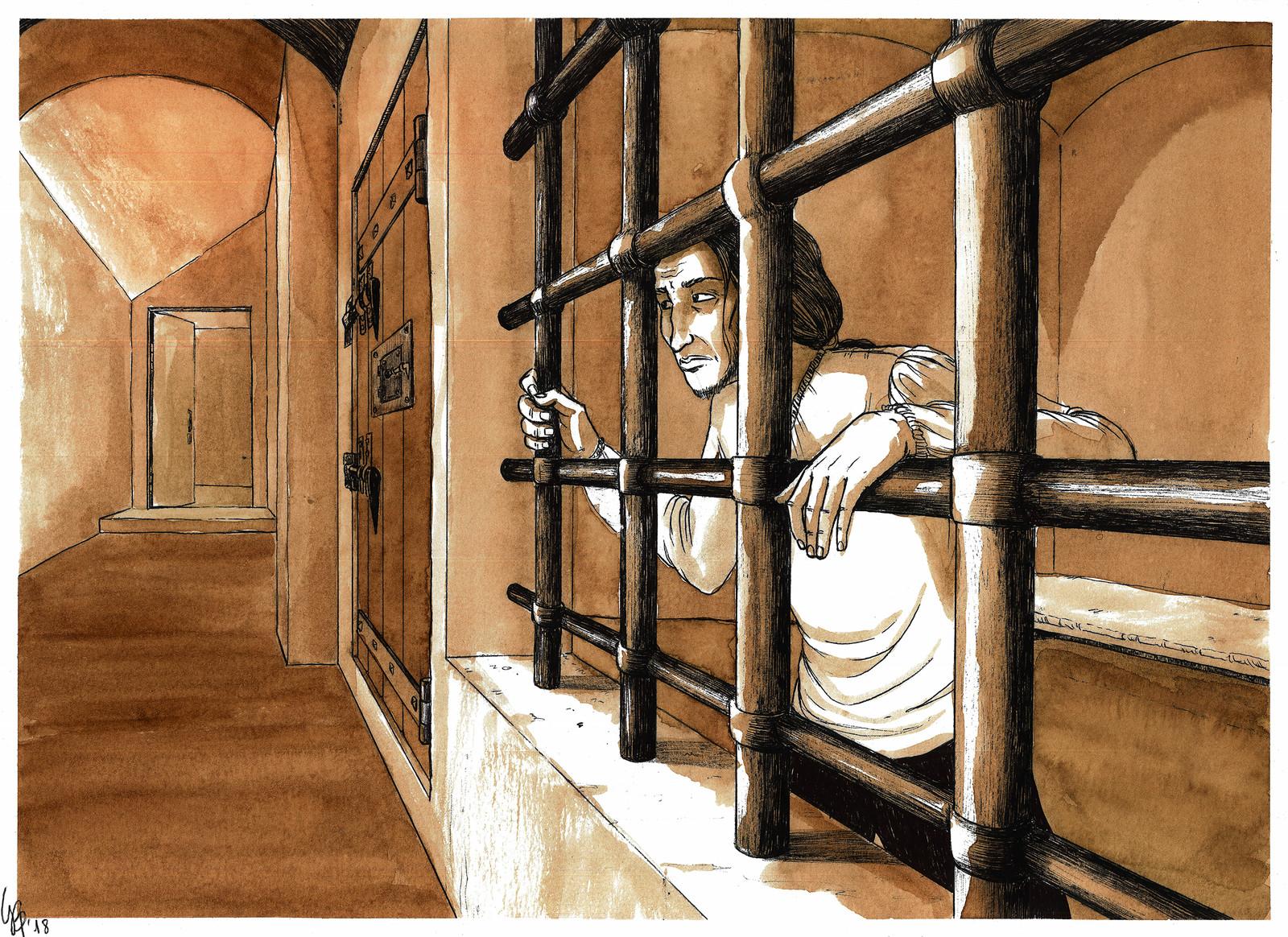 Nel 1815 Paganini sconta una settimana di detenzione  nella torre grimaldina di Palazzo Ducale.