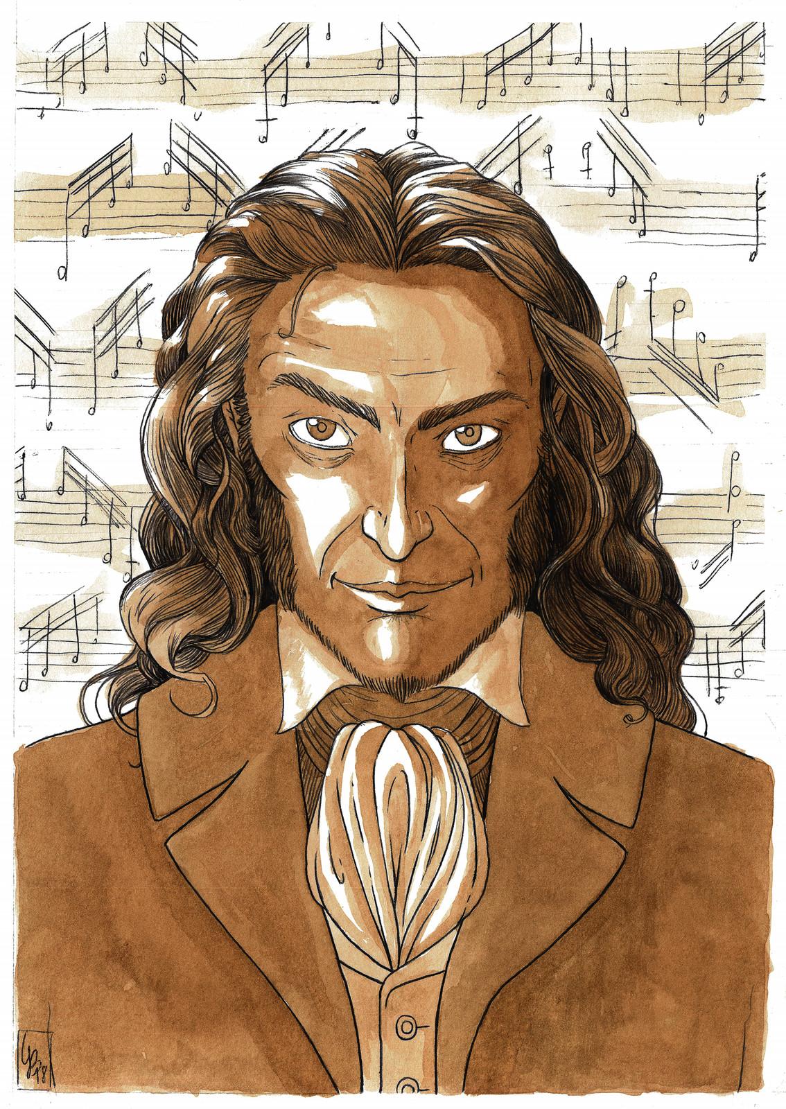 Niccolò Paganini, violinista virtuoso e compositore genovese.