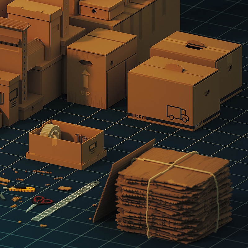 """""""Cardboard town in progress"""""""