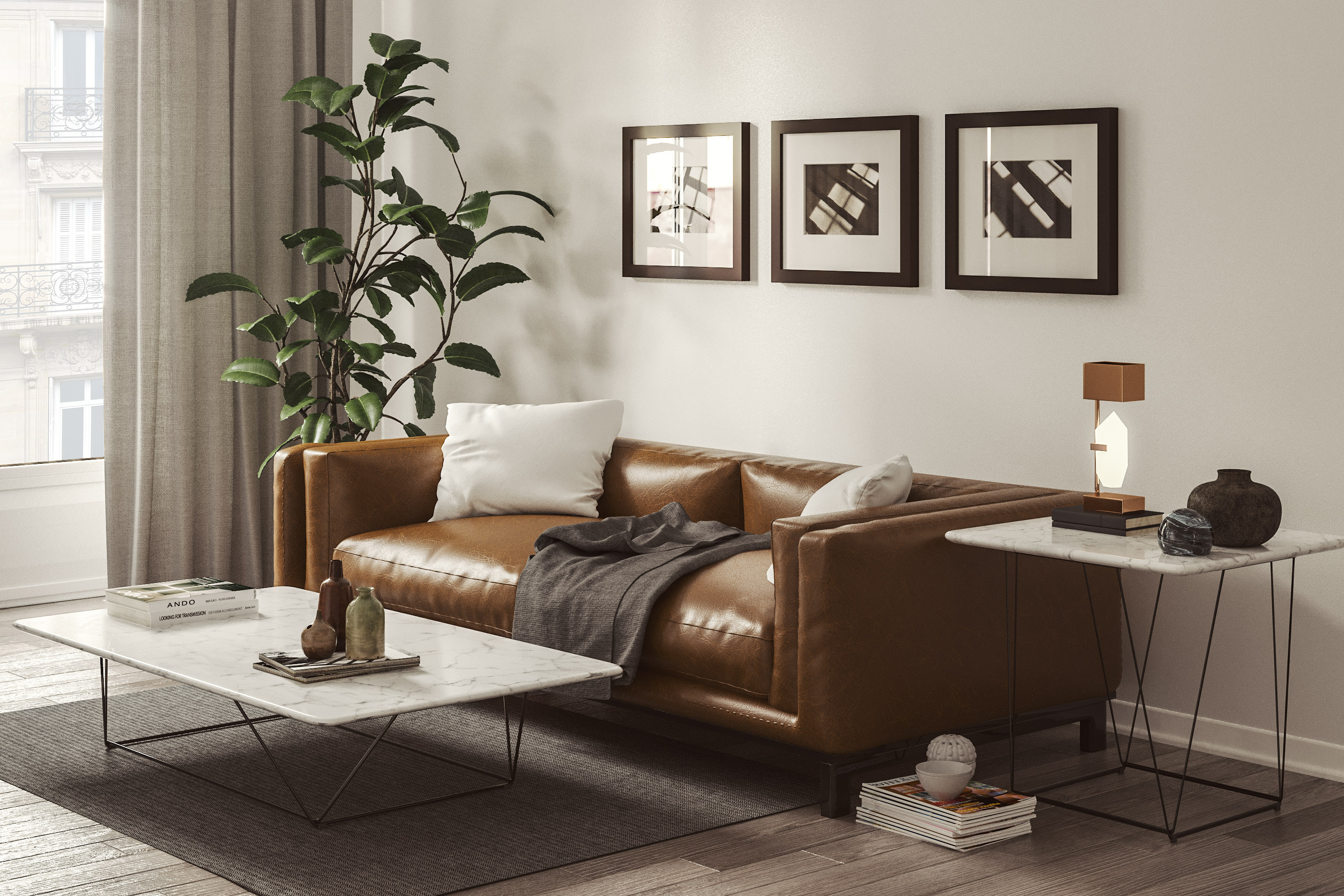 Sofa Modeled With Smax Render