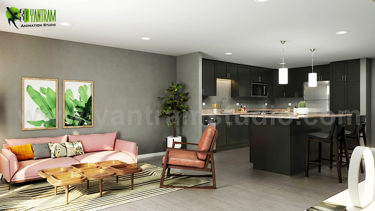 Artstation Open Concept Kitchen Living Room Design Ideas