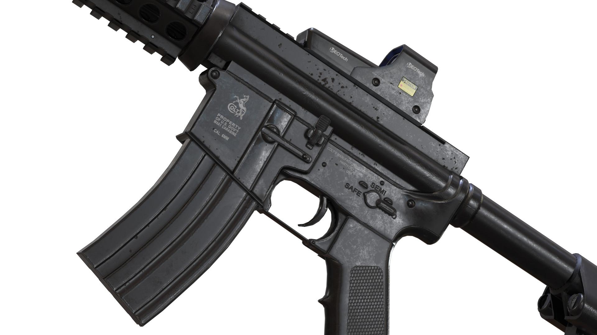 ArtStation - Colt M4 Carbine, Linus Geisler