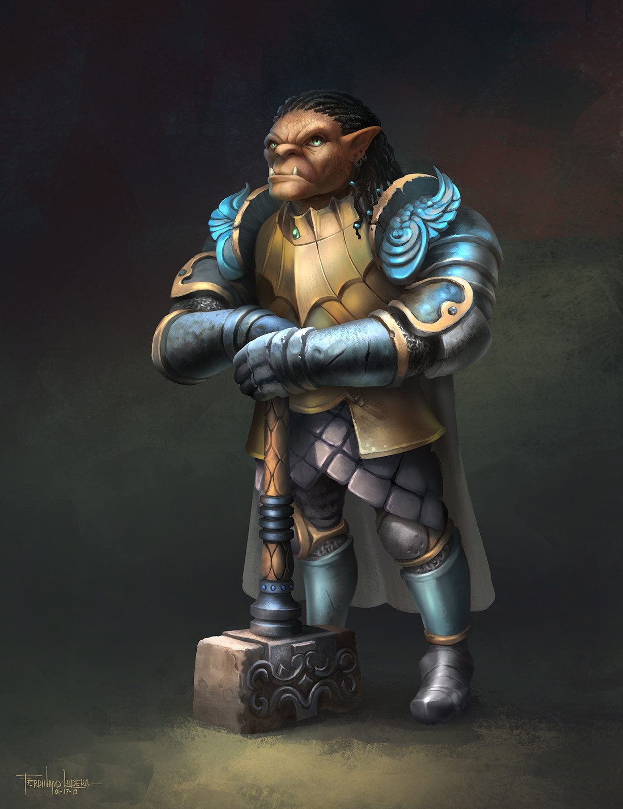 Ferdinand ladera gauwyn half orc fighter conceptart