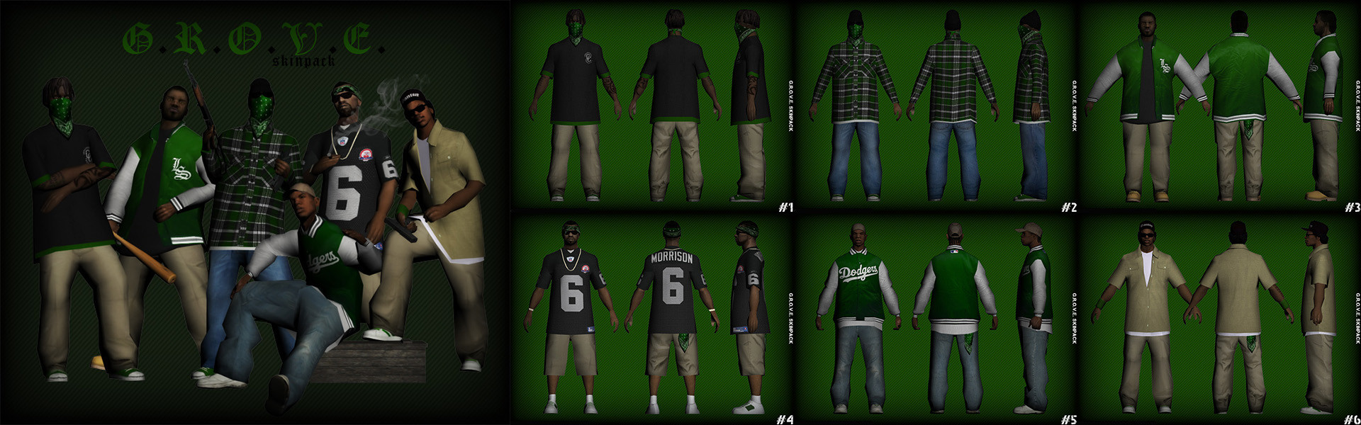 ArtStation - Grand Theft Auto San Andreas - Skinpack Collection