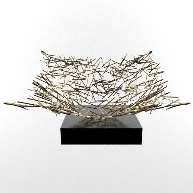 Marvin supan badgley mischka grant sculpture