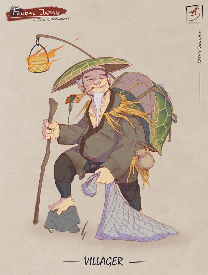 VILLAGER: The kind fisherman.