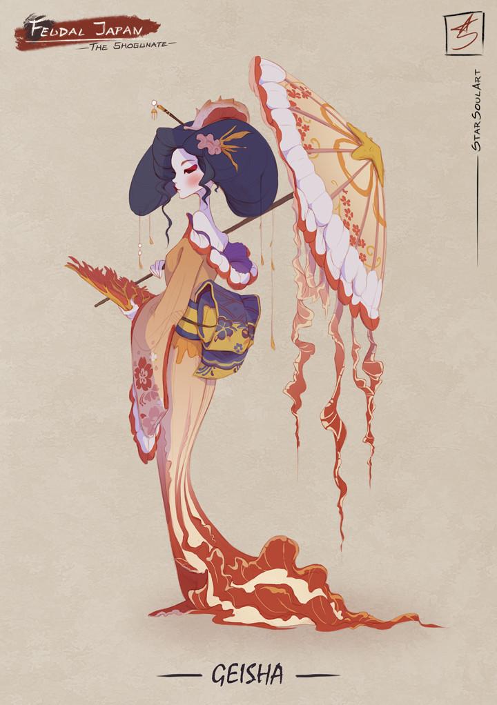 GEISHA: The femme fatale lady.