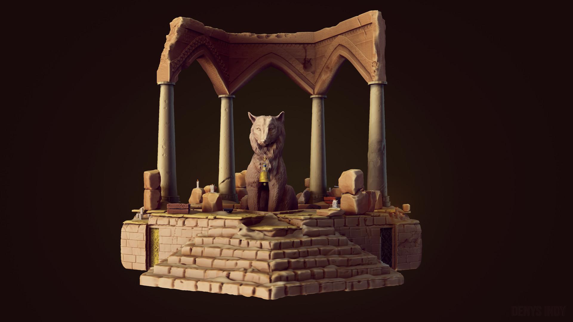 Arabic wolf temple
