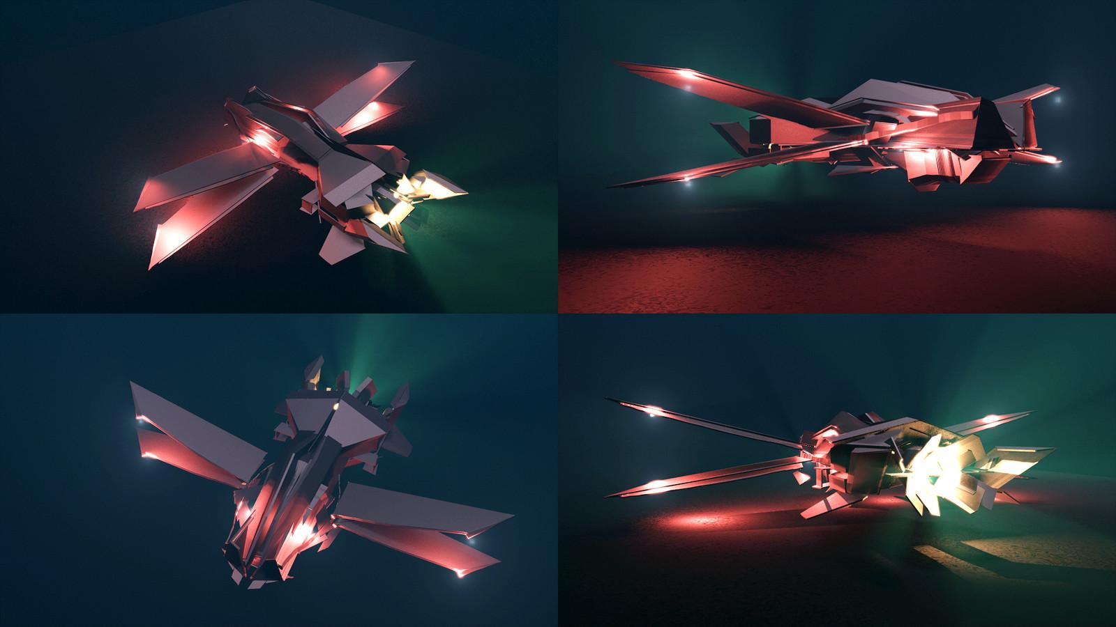 Weird spaceship/plane hybrid