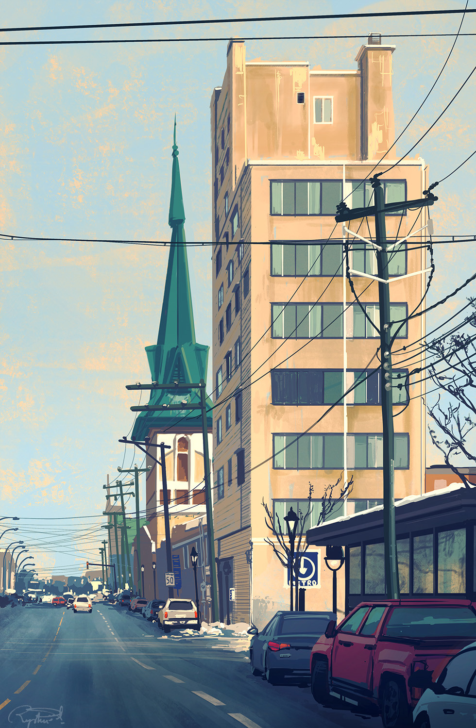 Montreal - iPad Painting