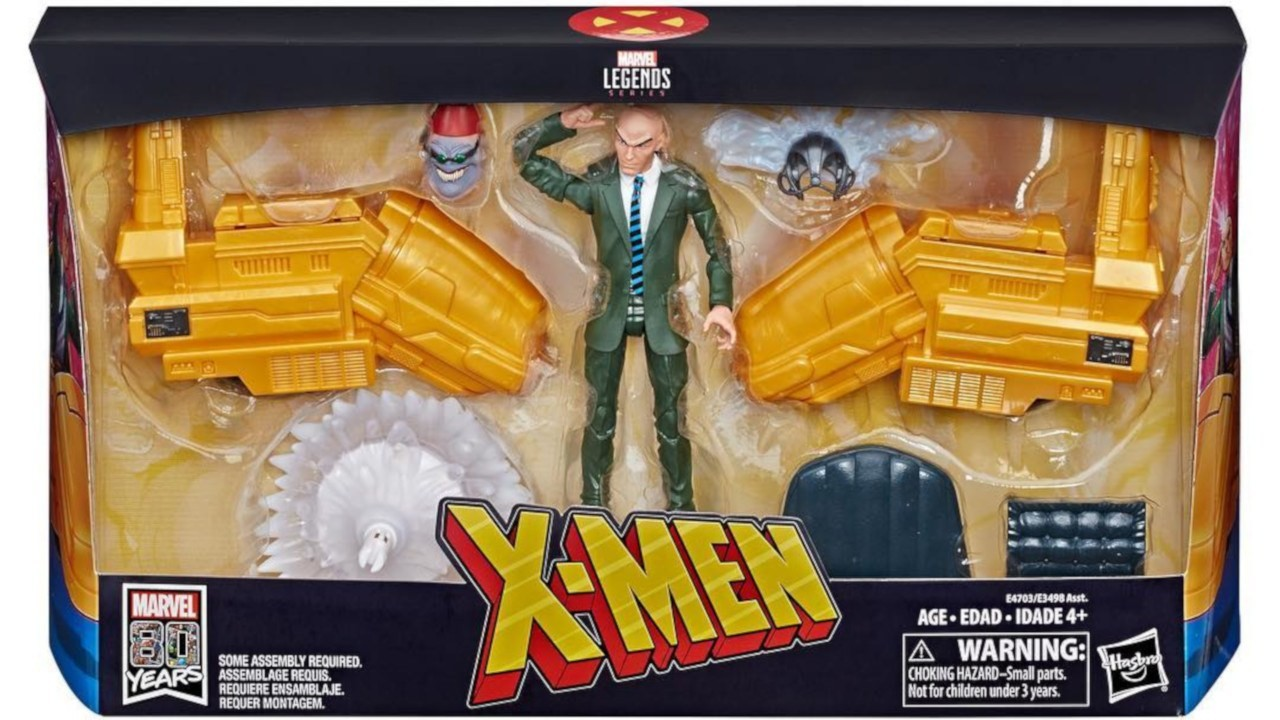 David nakayama hasbro marvel legends riders professor x with hoverchair package promo featured