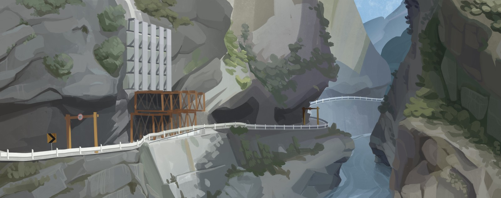 Plein air painting Taroko Gorge
