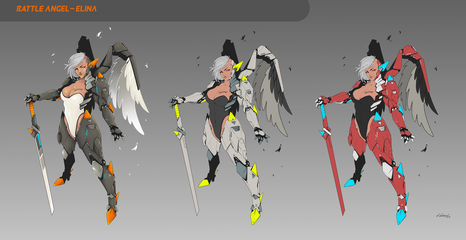 Character color variation.