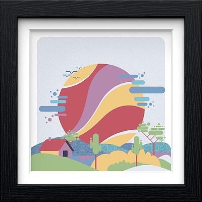 Rajesh r sawant black square frame konkan stylized