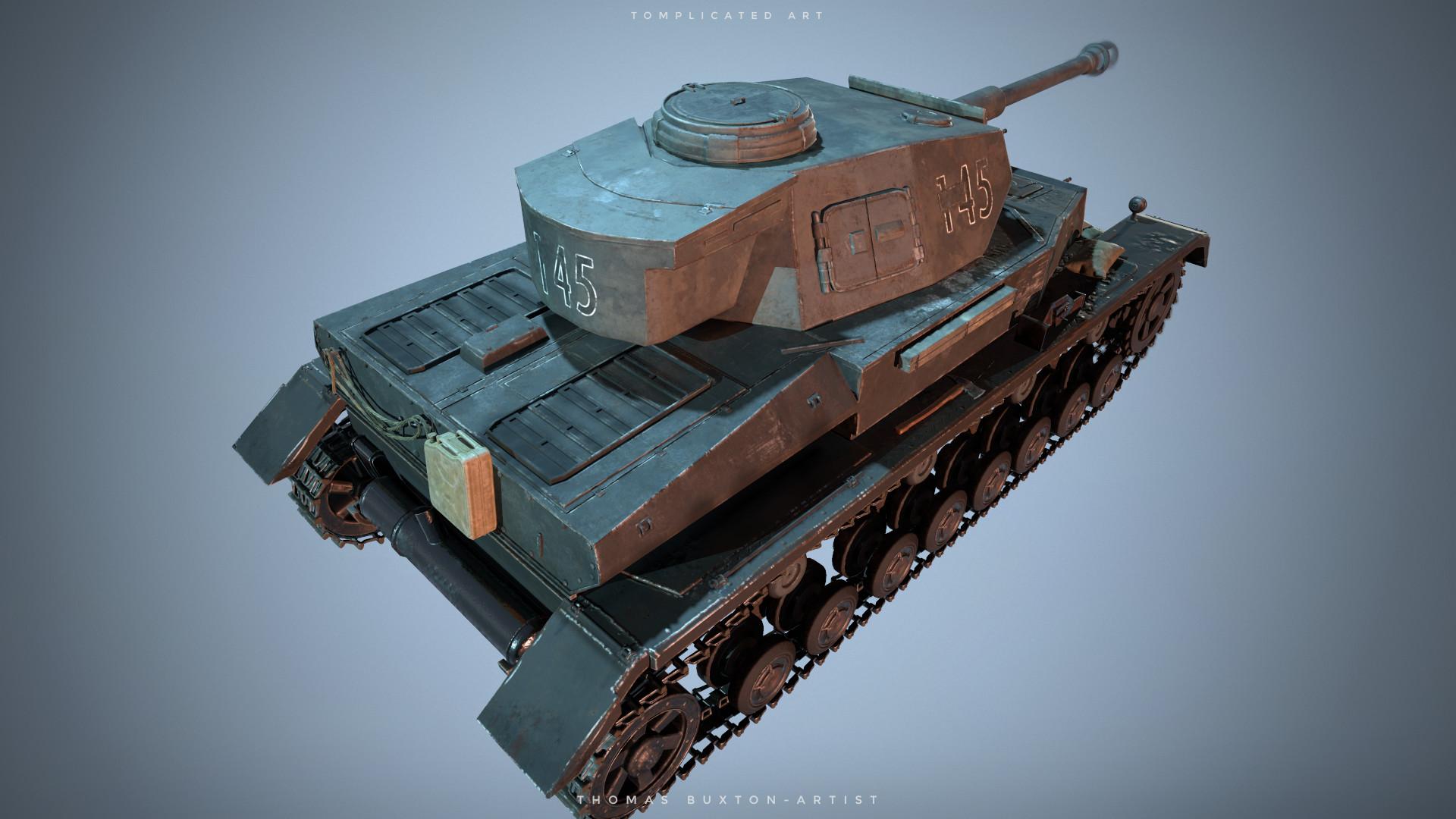 ArtStation - Panzer IV Tank, Tom Buxton