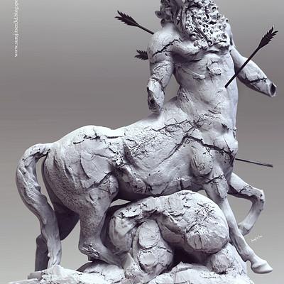Surajit sen sculpture centaur by surajit sen jan2019